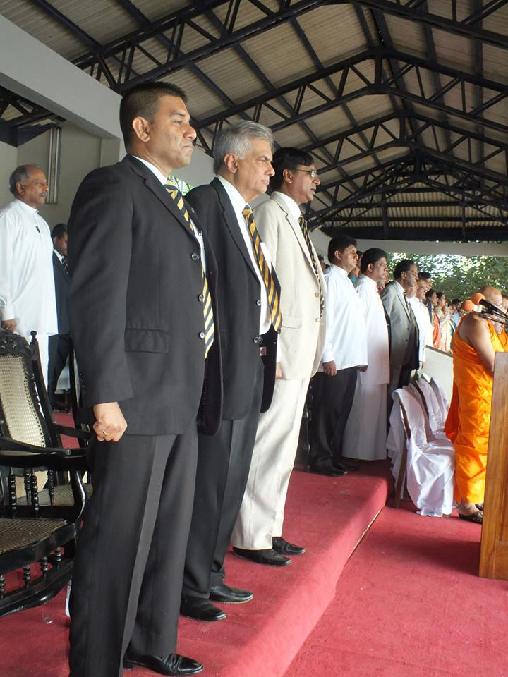 Dinesh Gunawardena is a classmate of Wickremesinghe at Royal College and recently participated at a ceremony held to pay tribute to the new Prime Minister and other Royalist Ministers at Royal College.